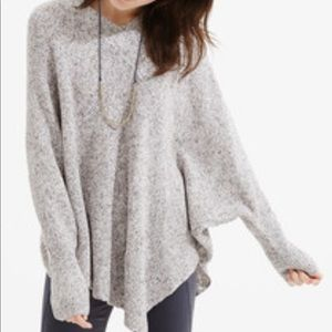 Lou & Grey Asymmetrical Sweater Poncho